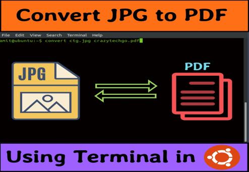 convert jpg to pdf ubuntu