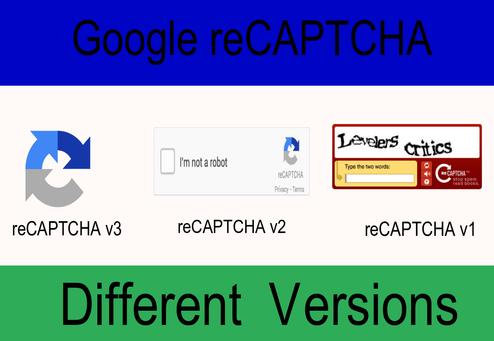 different versions of recaptcha