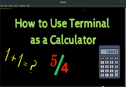 use terminal as calculator in ubuntu linux