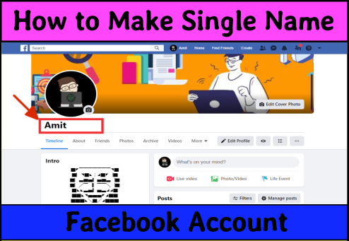 how-to-make-single-name-facebook-account